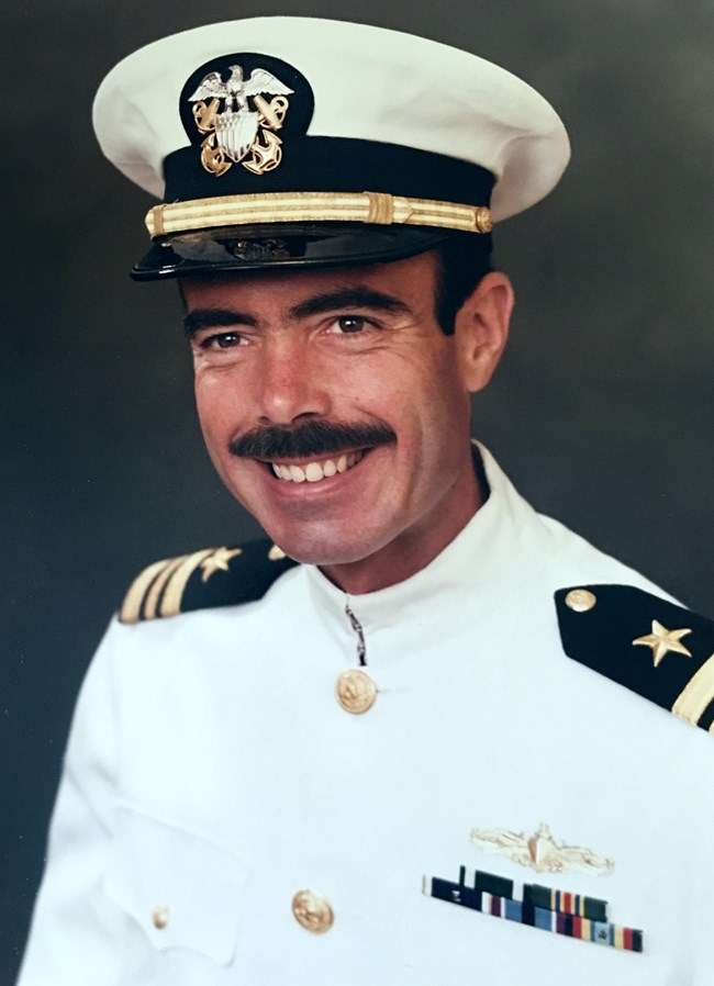 Portrait of Navy officer, Jim Haas
