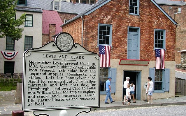 lewis and clark interpretive sign in harpers ferry, wv
