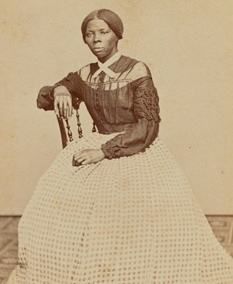 Seated portrait of a young Harriet Tubman circa 1860s.