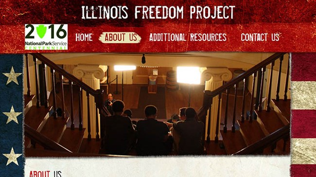 Screen capture of the Illinois Freedom Project website