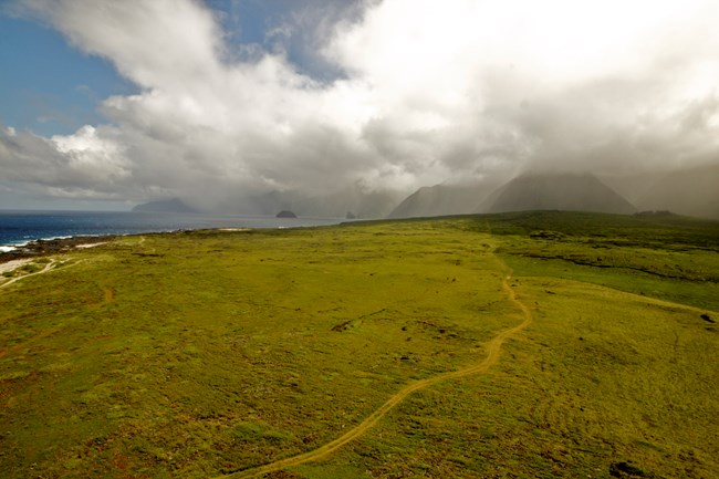 Precipitation in the lush valleys of Kalaupapa National Historical Park is projected to be reduced, affecting ecosystems from the ridges to the ocean.