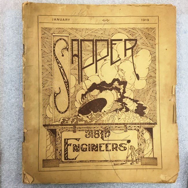 "Photo of front cover of ""Sapper"" booklet"