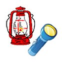 Illustration of a flashlight and lantern