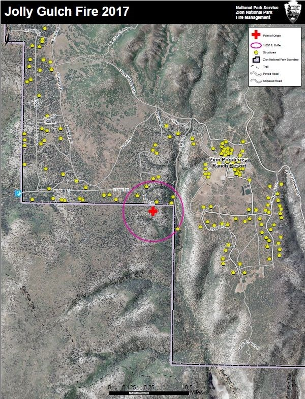 Jolley Gulch Fire Area Map