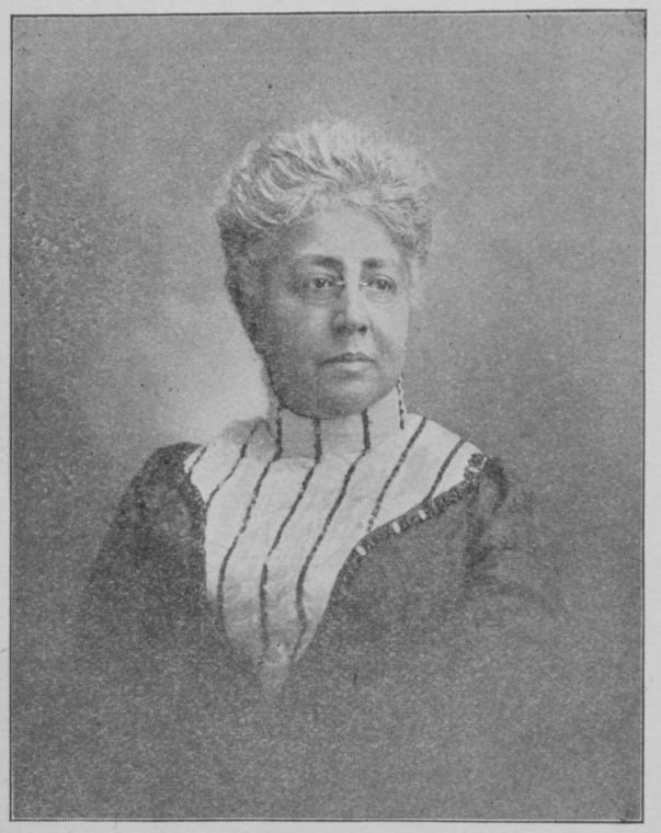 Head and shoulders portrait of Josephine Ruffin facing over left shoulder