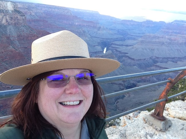 Kris Provenzano at Mathers Point in the Grand Canyon National Park, AZ.