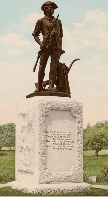 Photo of a statue of a soldier.