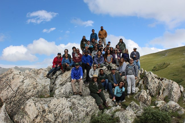 Group of interns at Rocky Mountain National Park