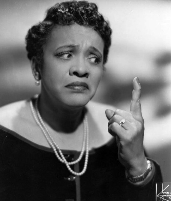 Headshot of Jackie Moms Mabley a 1944 publicity photo