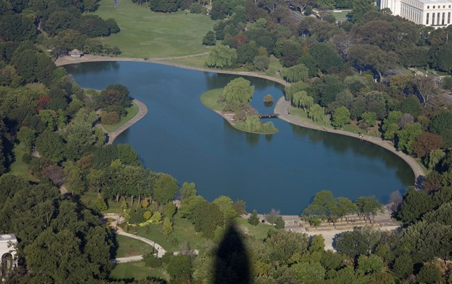 Constitution Gardens, aerial photograph