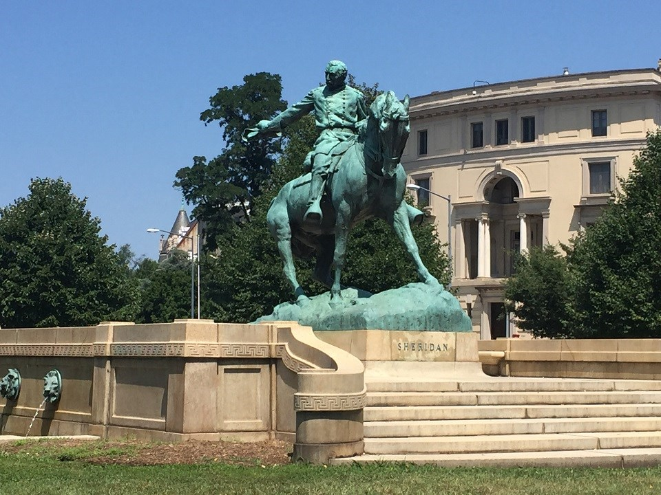 Equestrian statue of Civil War General Phillip Sheridan