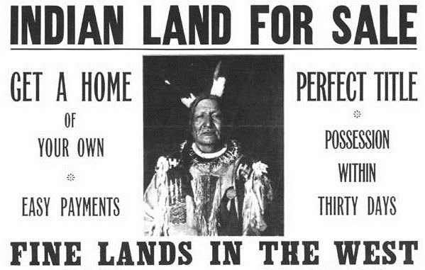 Government poster advertising Indian Land for Sale