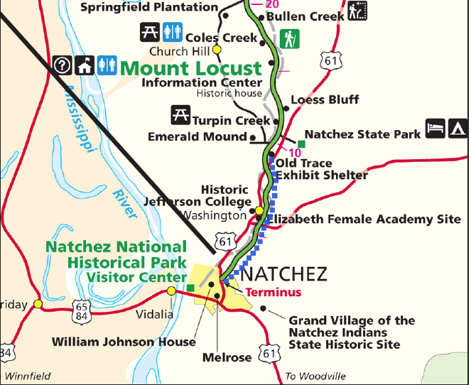 Build Multi Use Trails Along The Natchez Trace Parkway U S