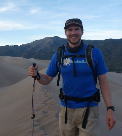 Neal hiking in Great Sand Dunes National Park and Preserve