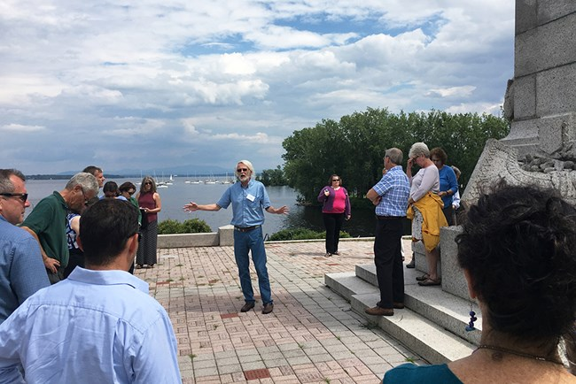 City Historian John Krueger gave a walking tour of Plattsburgh, NY