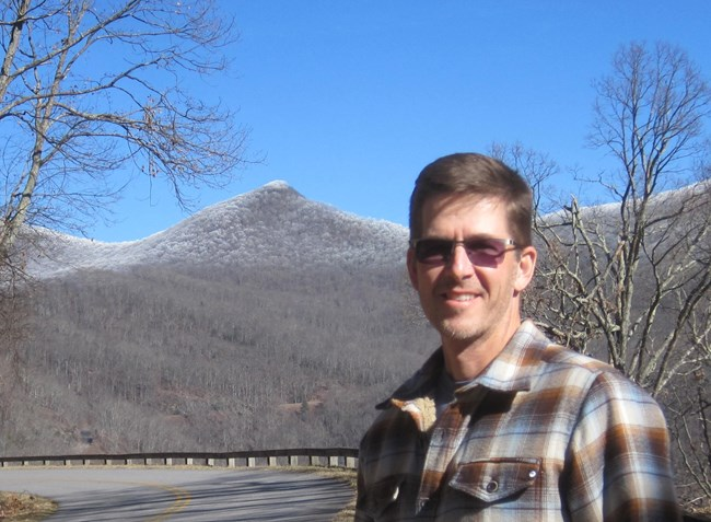 Photo of Andy Otten on the Blue Ridge Parkway near Asheville, NC