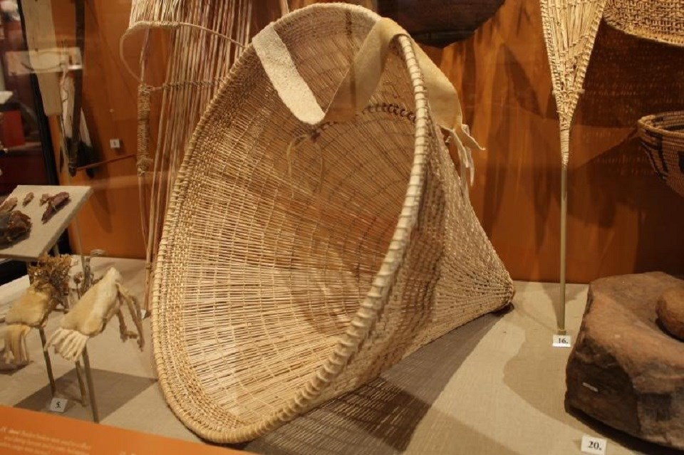 Conical-shaped basket