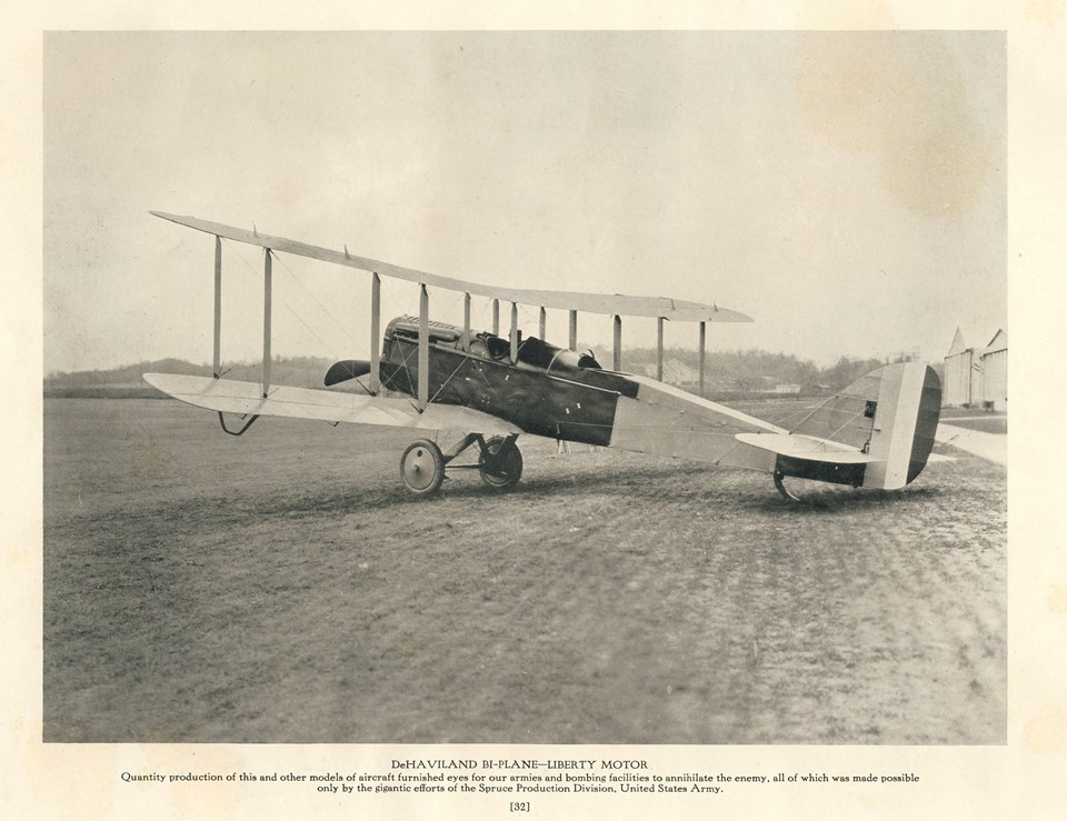 Historic photograph of a Liberty plane