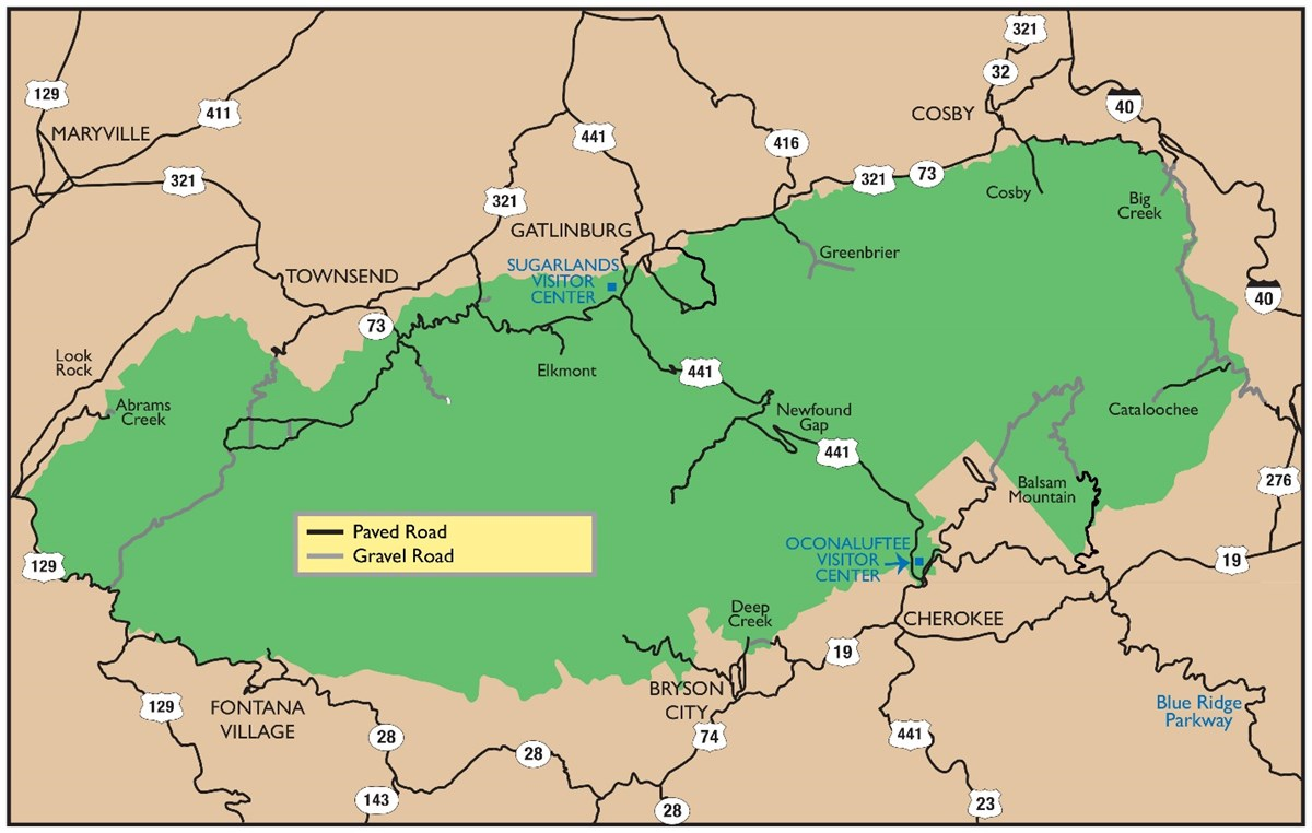 smoky mountains usa map Great Smoky Mountains Roads And Bridges Rehabilitation U S