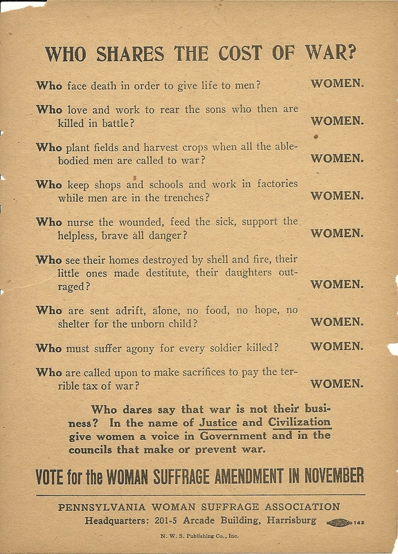 Women's Suffrage and WWI (U S  National Park Service)