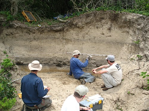 Excavating a dune site