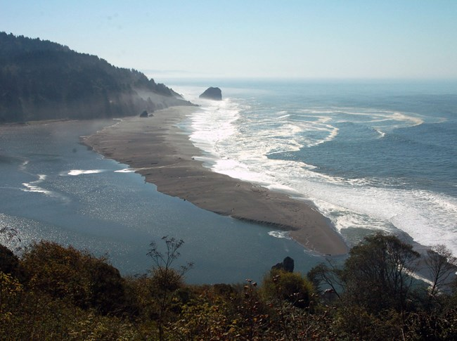 The mouth of the Klamath River.