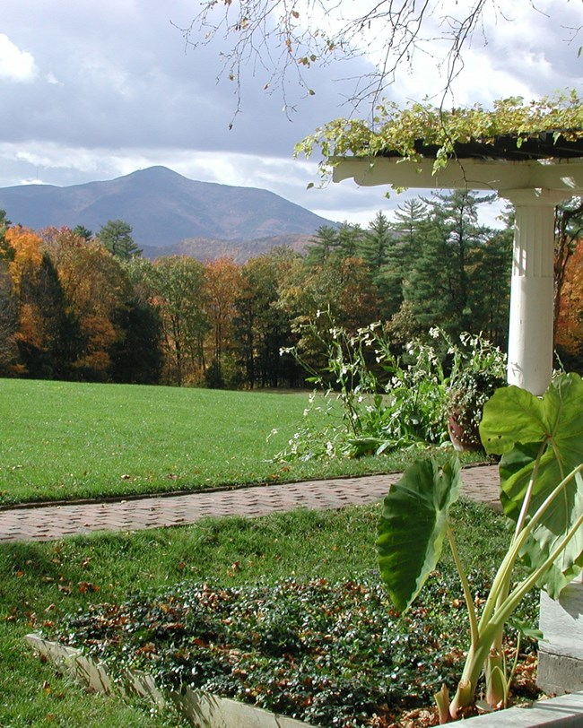 gardens and view of mount ascutney