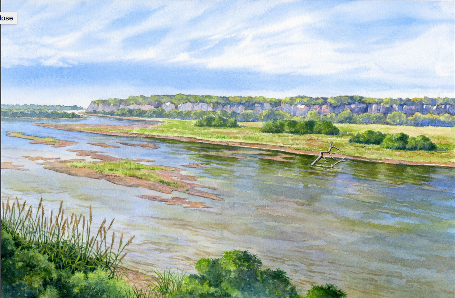 Painting of a River