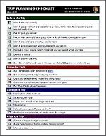 vacation planning checklist