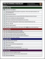 NPS Trip Planning Checklist PDF