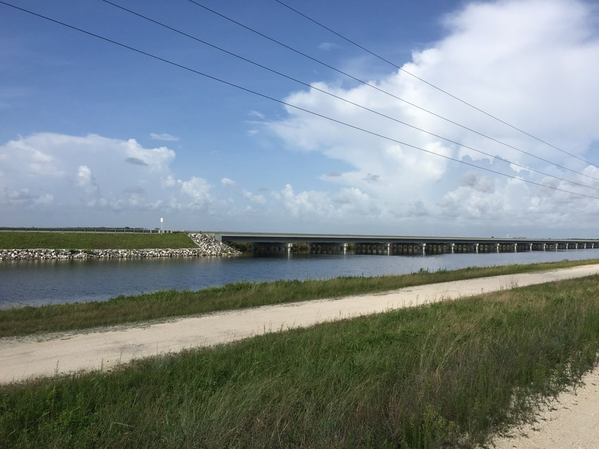 Tamiami 1 mile section completed, 2014, connecting the canal flow to Everglades National Park