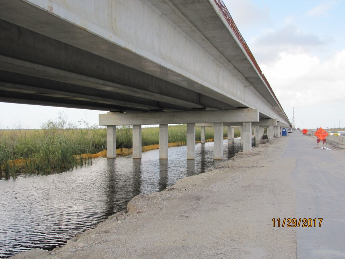 Tamiami Bridge under construction