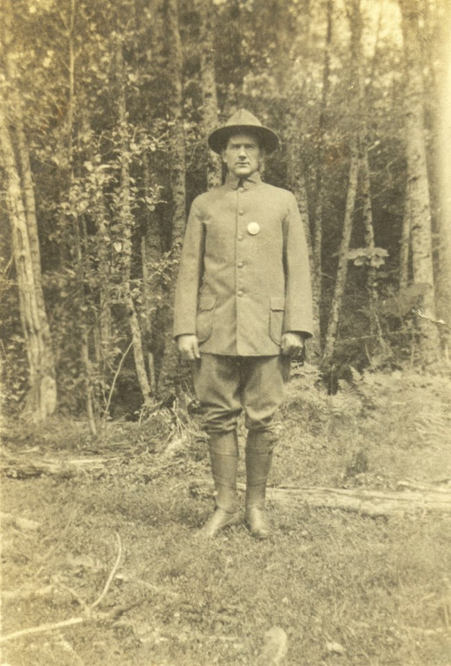 Thomas O'Farrell, first park ranger at Carbon River.