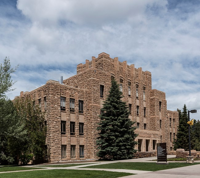 Exterior of the University of Wyoming Arts and Science Building