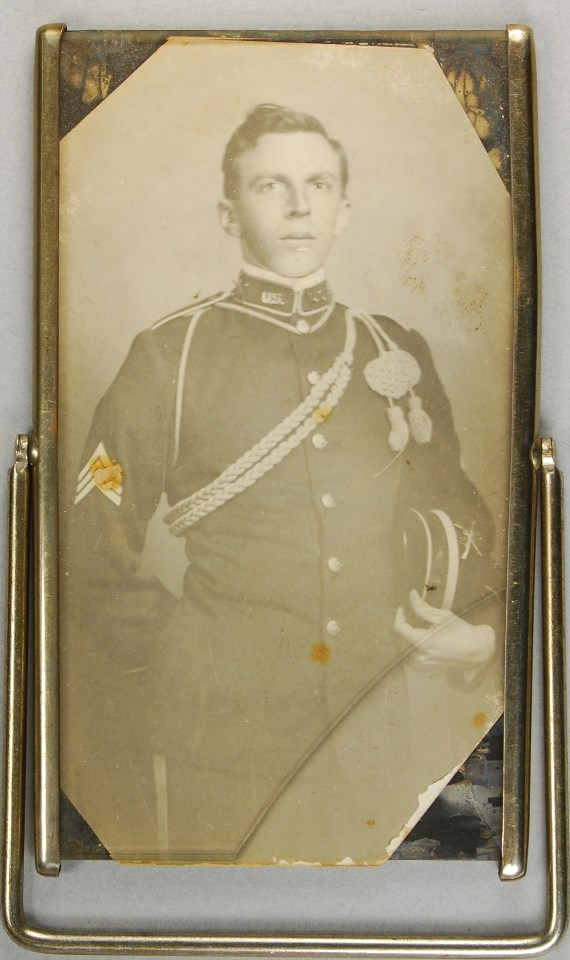 Framed photograph portrait of a man in an Army uniform