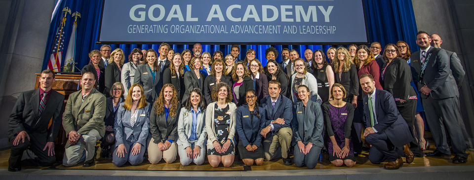 The GOAL Academy 2018 participants pose for a group photo.