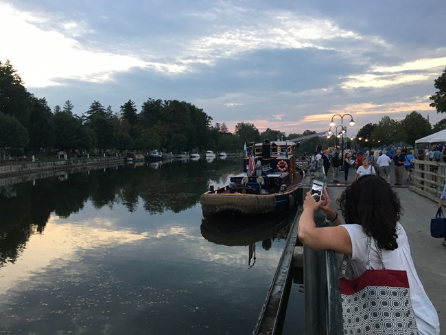 Participants on the fourth day of the conference enjoyed an evening celebration and upstate cookout in Baldwinsville, NY / NPS Photo