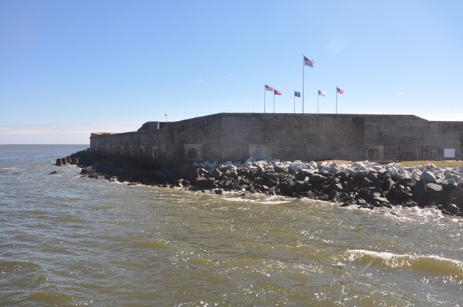 Coastal structures at Fort Sumter