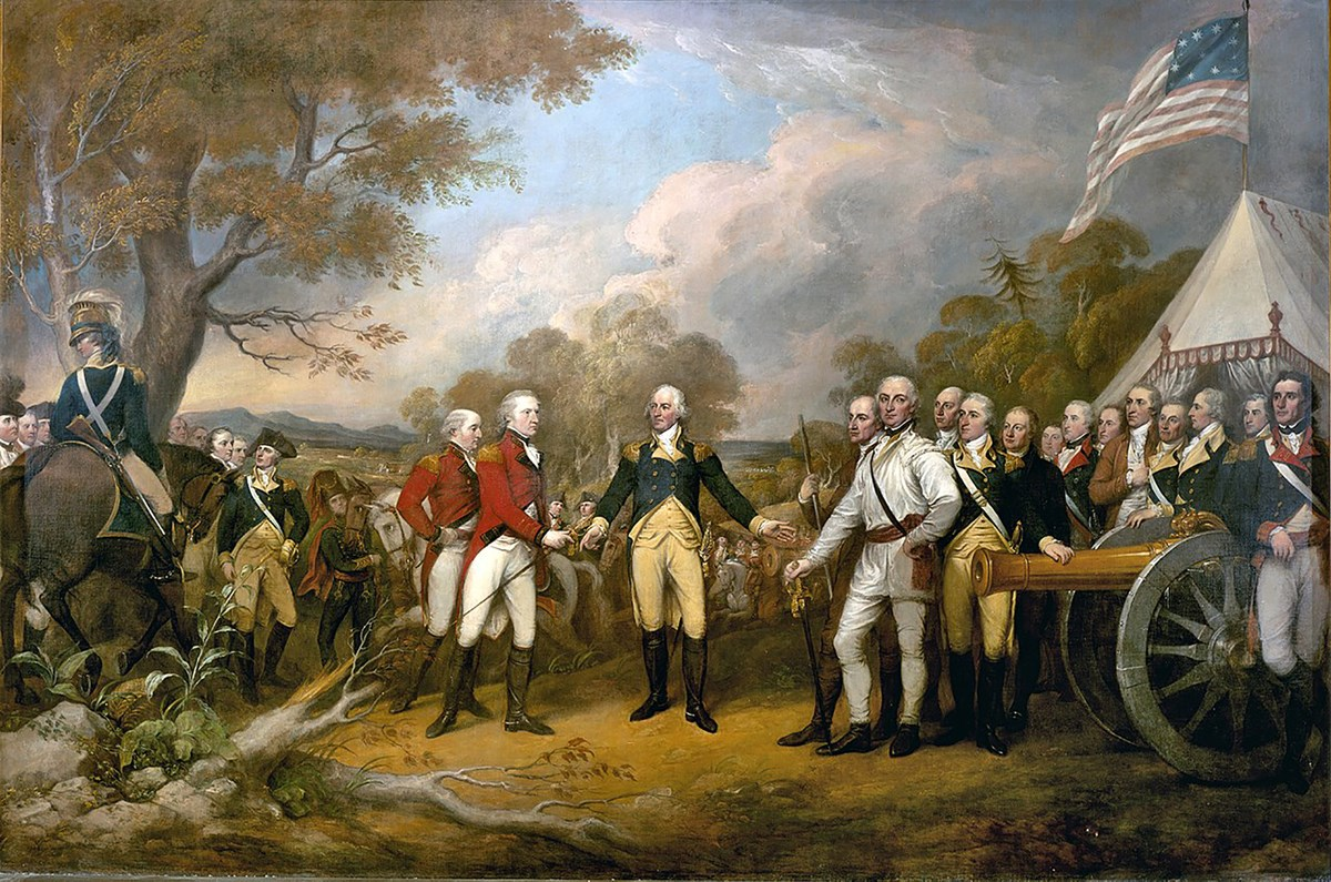 Surrender of General Burgoyne by John Trumbull, 1822