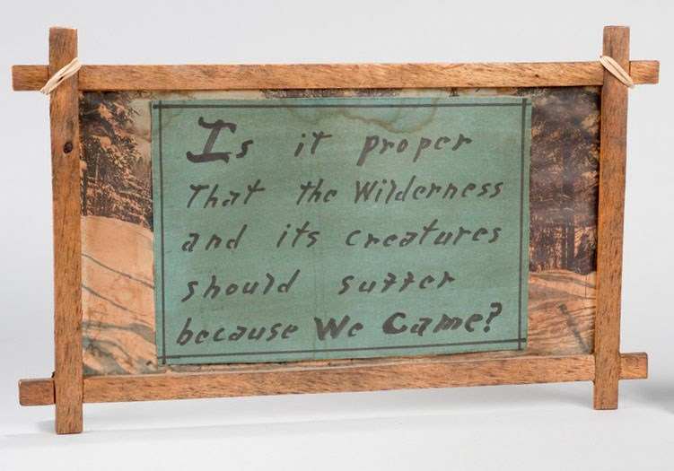 Handmade Wilderness Sign