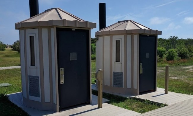 Movable restrooms located at Assateague Island National Seashore