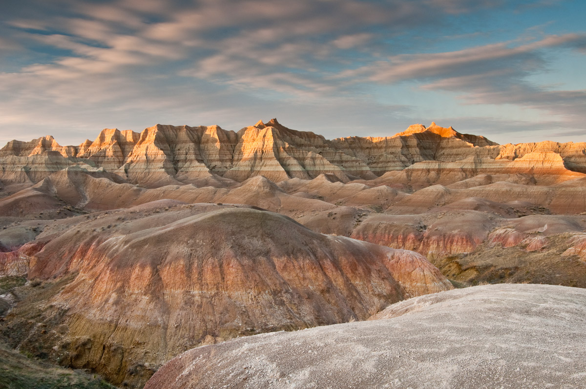 Yellow Mounds in Badlands NP