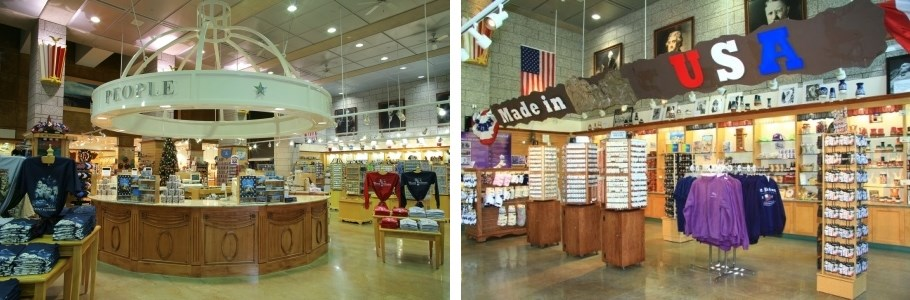 before and after shots of gift shop