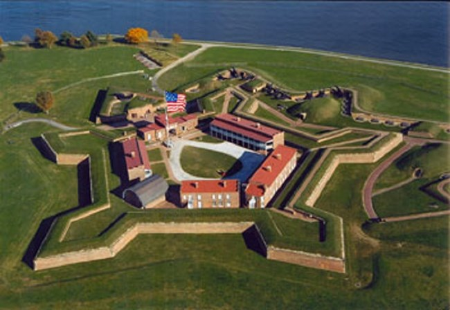 Aerial photo of Fort McHenry. (Maryland Governor's Office)