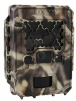 a brown box-shaped trail camera