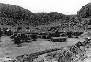 A portion of Fort Davis ca. 1888. Photograph courtesy of Fort Davis National Historic Site.