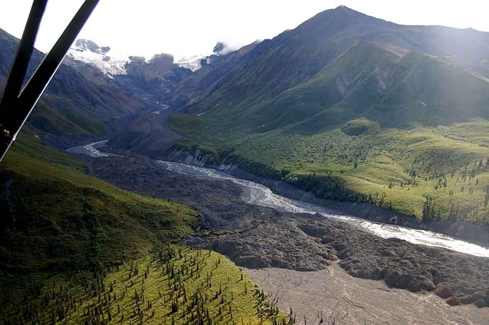 the debris flow from White River, WRST