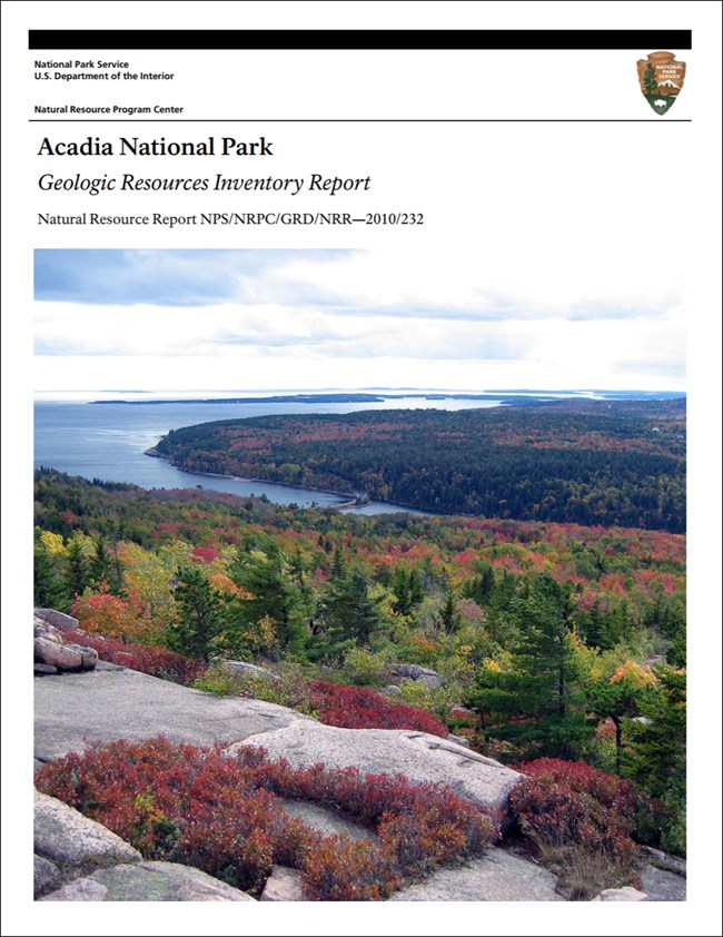 acadia report cover with landscape image