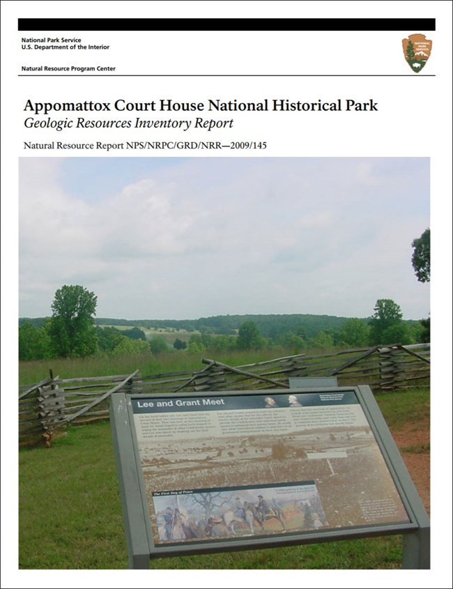 appomattox court house gri report with landscape image
