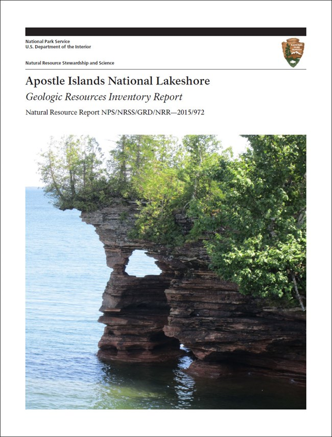 apostle islands gri report cover with lakeshore image